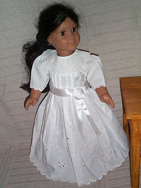 First Communion or Bridal Doll Dress fits American Girl Doll & Other ...