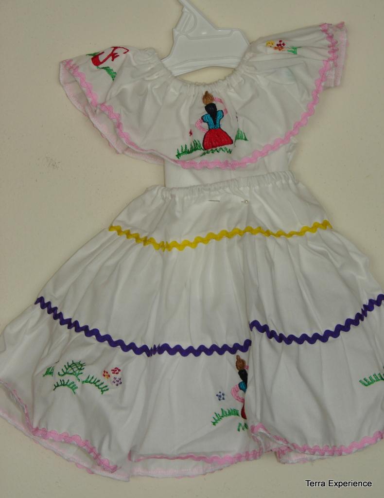 Fair Trade Nicaraguan Traditional Doll Dress For American