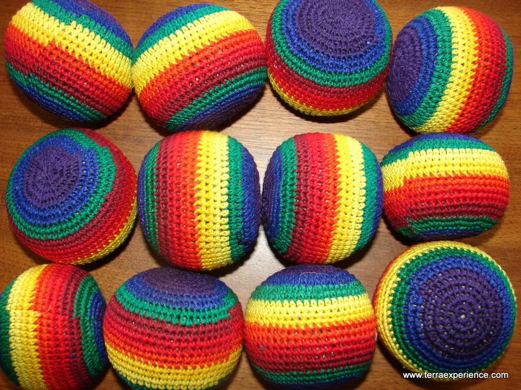 Colorful Guatemalan Hacky Sacks and Worry Dolls