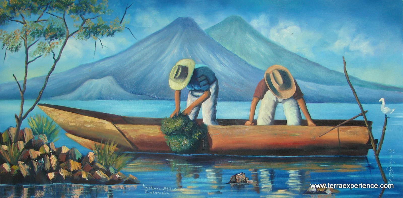 mayan naive oil paintings from the santiago atitlan area of